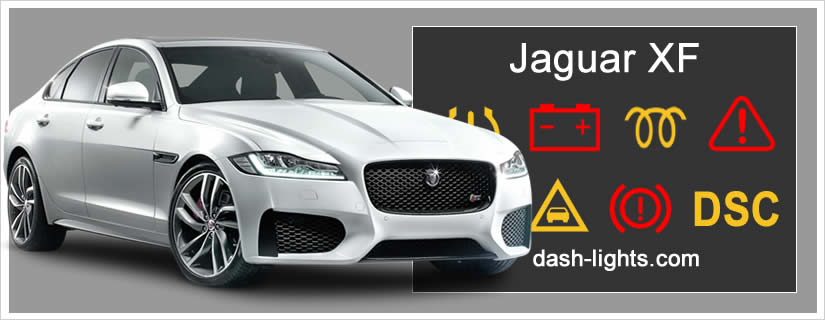 Jaguar XF Dashboard Warning Lights and Symbols explained