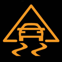 ESP / ESC Fault Dashboard Warning Light Symbol