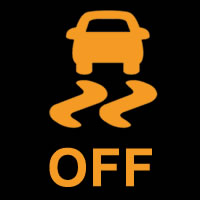 Dynamic Stability Control OFF Dashboard Warning Light Symbol