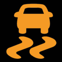 Dynamic Stability Control Dashboard Warning Light Symbol