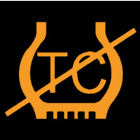 Traction Control Off / Fault Dashboard Warning Light Symbol