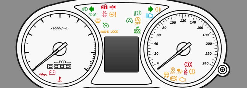 Mitsubishi Outlander Dashboard Warning Lights