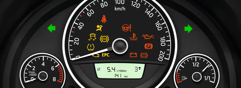 Škoda Citigo Dashboard Warning Lights