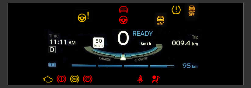BMW i3 Dashboard Warning Lights