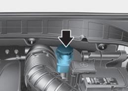 Hyundai Kona brake fluid reservoir tank