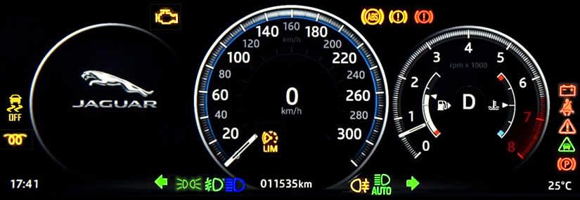 Jaguar F-PACE Dashboard Warning Lights