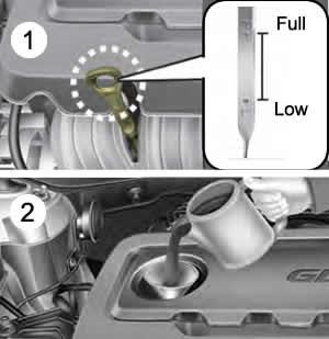 Kia Optima Checking the engine oil level
