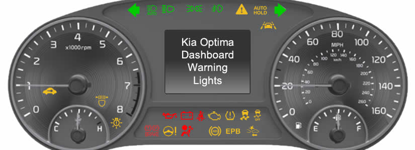 Kia Optima Dashboard Warning Lights Dash Lights Com