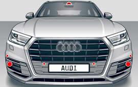 Audi Q5 camera and radar sensor location