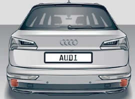Audi Q5 Side Assist sensor location
