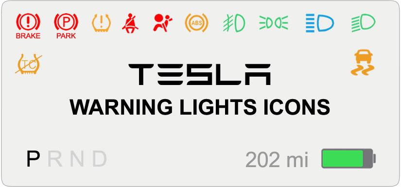 Tesla Warning Lights Icons