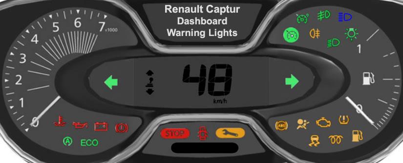 Renault Captur Dashboard Warning Lights