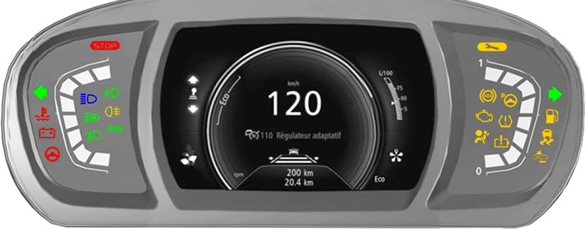Renault Scenic / Grand Scenic Dashboard Warning Lights