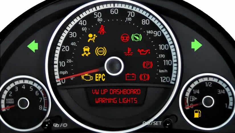 VW Up Dashboard Warning Lights