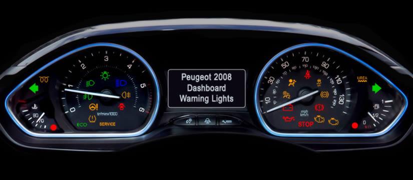 Peugeot 2008 Dashboard Warning Lights