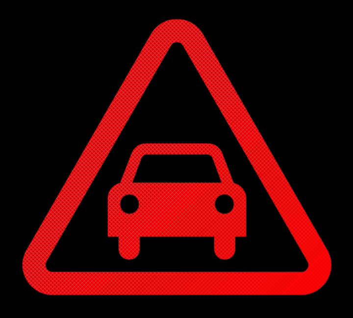 Mercedes Red Warning Triangle