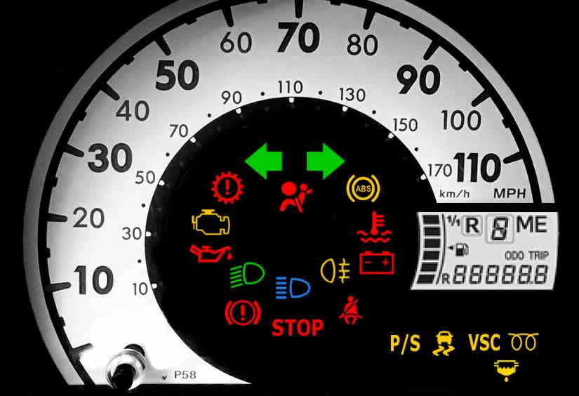 Peugeot 107 Dashboard Warning Lights