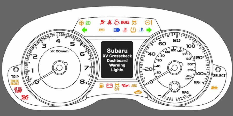 Subaru XV Crosstrek Dashboard Warning Lights