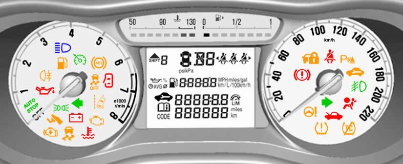 Vauxhall Viva Dashboard Warning Lights