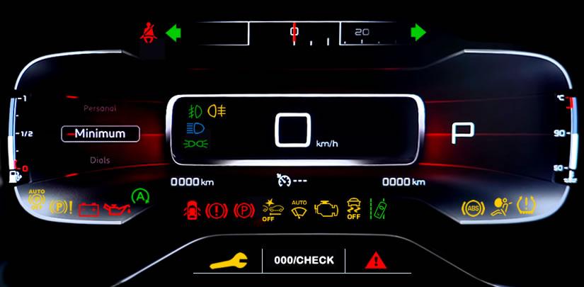 Citroen C5 Aircross Dashboard Warning Lights Symbols