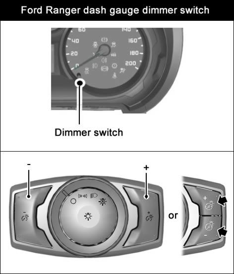 Ford Ranger Dashboard Dimmer Switch