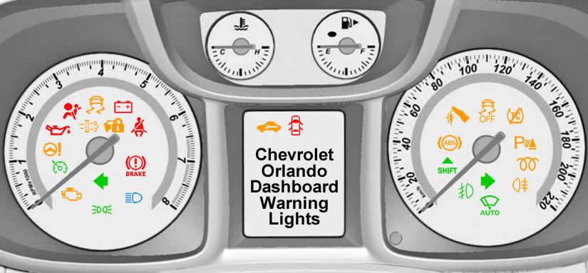 Chevrolet Orlando Dashboard Warning Lights